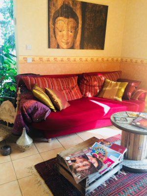 Reisebüro Andreas Steif, Beratungsraum, Couch