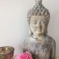 Reisebüro Andreas Steif, Dekoration, Buddha, Rose