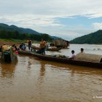Laos, Mekong, Langboot