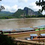 Laos, Pak Ou, Mekong, Langboot