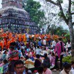 Laos, Tempel, Mönchsspeisung