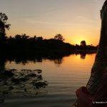 Kambodscha, Angkor Wat, Angkor Thom, See, Sonnenuntergang