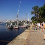 Ägypten, Nilkreuzfahrt, Felukke, Hafen
