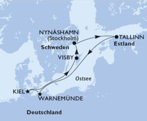 Route Kreuzfahrt Ostsee